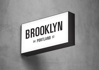 Brooklyn projection sign