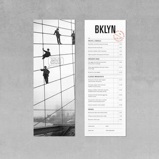 Brooklyn menu